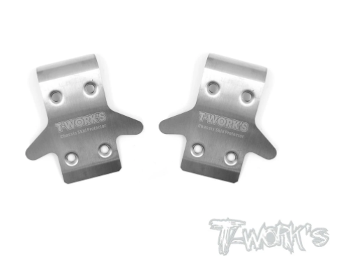 Stainless Steel Front Chassis Skid Protector- Team Associated RC8B3.1/B3.2  2pcs