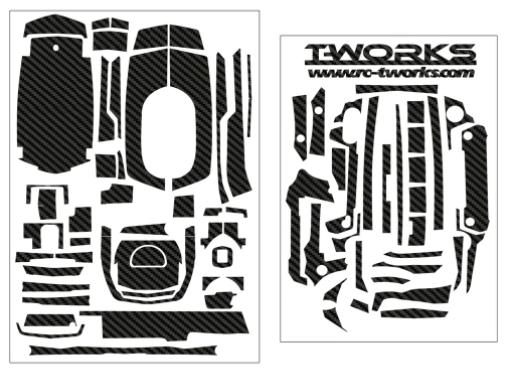 3D Color Graphite Sticker  - Sanwa M17