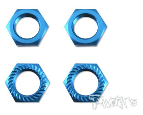 17MM Self-Locking Wheel Nut P1 - BLUE - 4pcs