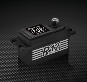Power HD R12 - Black LOW PROFILE HV Coreless Servo
