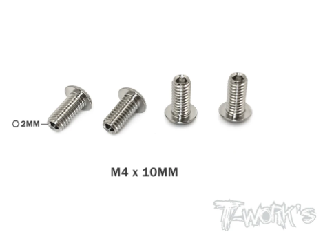 Titanium Down Stop/Droop Screws M4x10 - 4pcs
