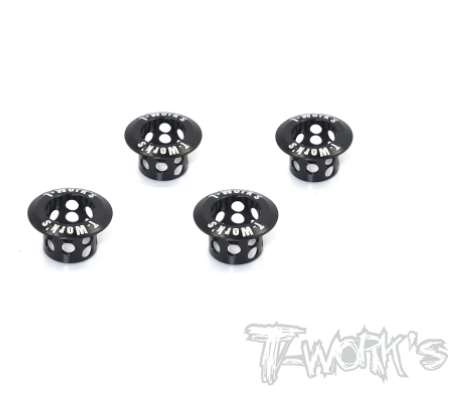 TWORKS - Alum. Lightweight Body Height Adjuster 8mm Body Post ( Black ) 4pcs