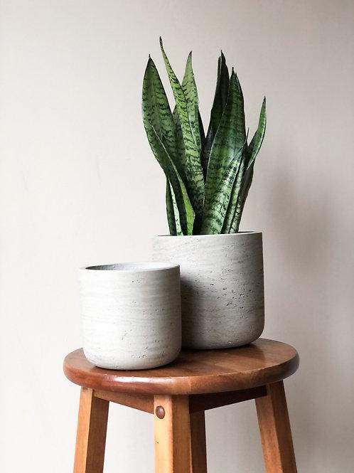 Concrete Textured Planter - Large