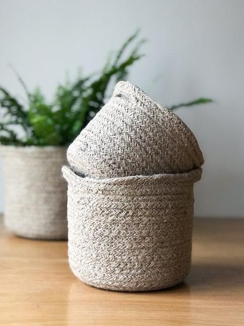 Jute Woven Basket Planter  - 3 Sizes