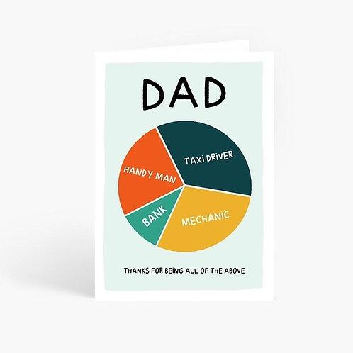 Dad Pie Chart Card by Amelia Ellwood