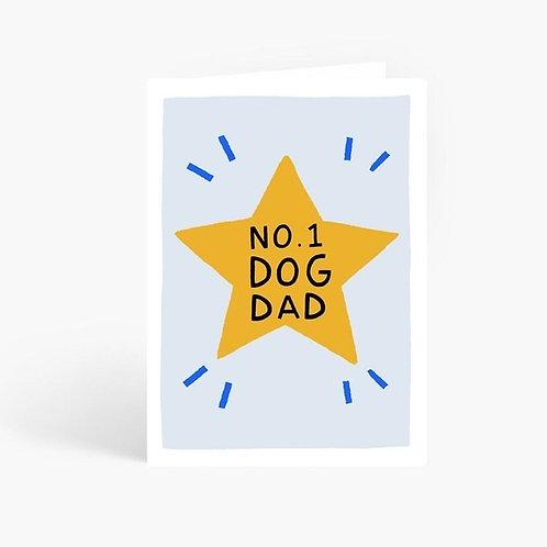 No1. Dog Dad Card by Amelia Ellwood