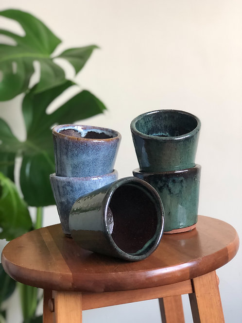 Hand-Glazed Mini Pot - Fits 8cm Plants