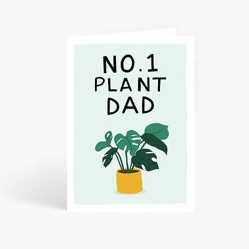 No. 1 Plant Dad Card by Amelia Ellwood