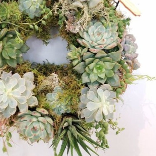 Festive Succulent Wreath Workshop - 16th December @ Hideout, Wigan