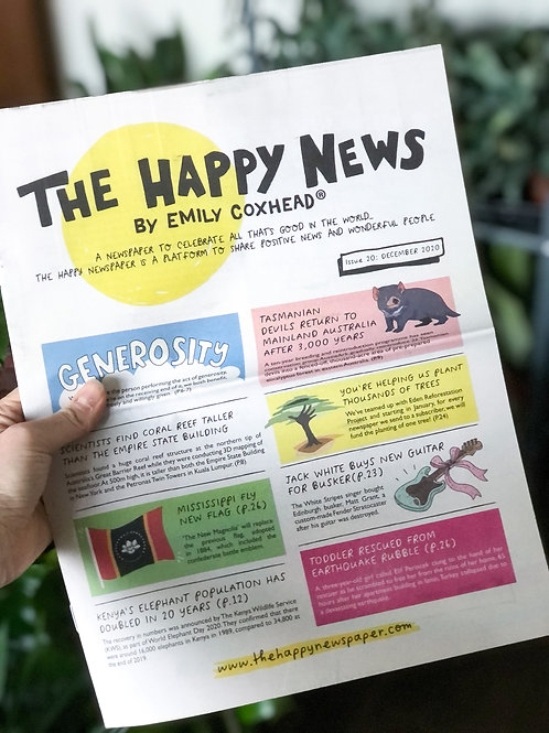 The Happy Newspaper by Emily Coxhead ®