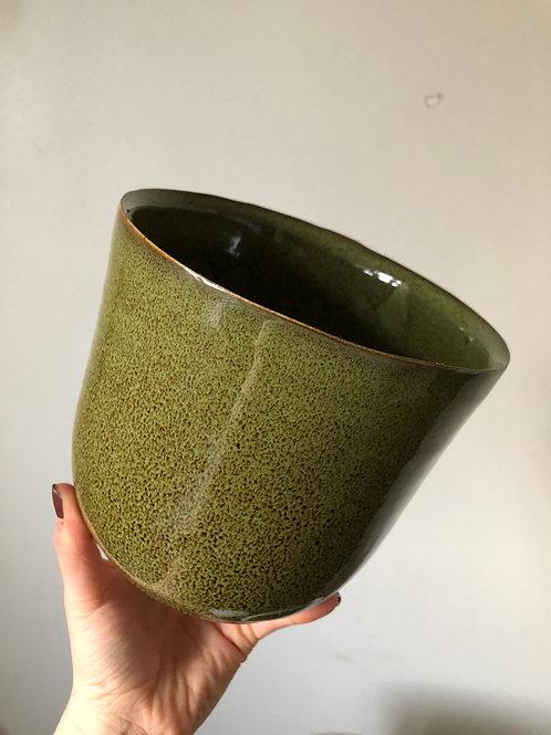 Sage Green Speckled Ceramic Pot