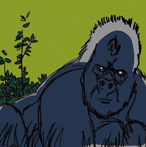 Grey Gorilla Green Bushes cropped.png