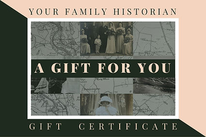family history gift certificate