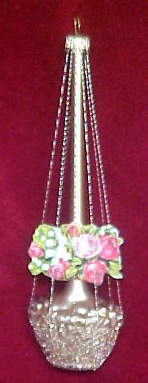 #5501-001 - Wire Wrapped Flower Basket, Matte Finish