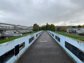 View of Thamesmead from one of the overhead walkways.  Photo by Pepe Puchol-Salort