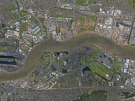 Thamesmead - aerial view
