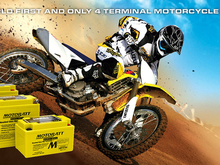 Motobatt PowerSports Batteries with Quadflex™ Technology