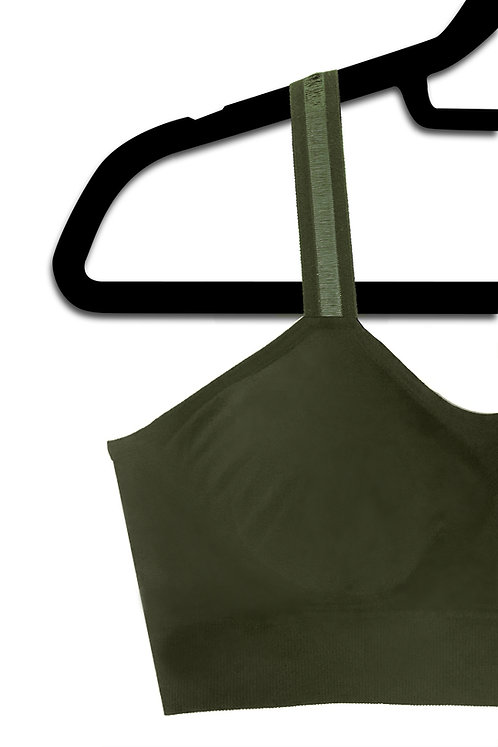 Olive Green Sheer (attached to our olive bra)