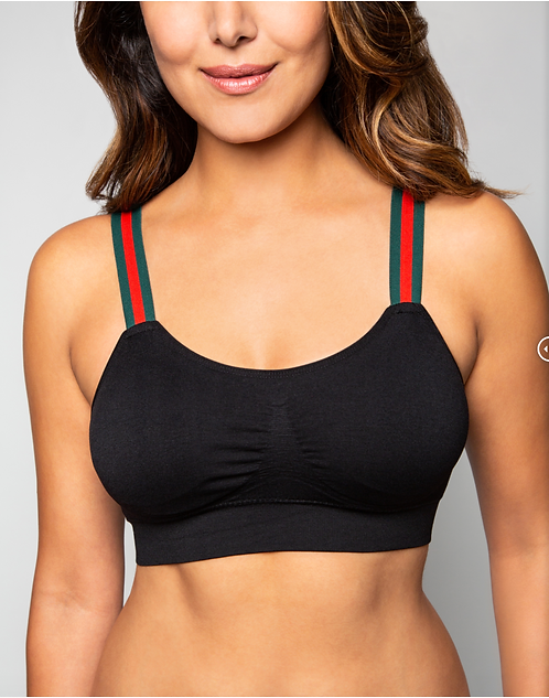 "BLACK ""G"" STRIPE (attached to our black bra)"