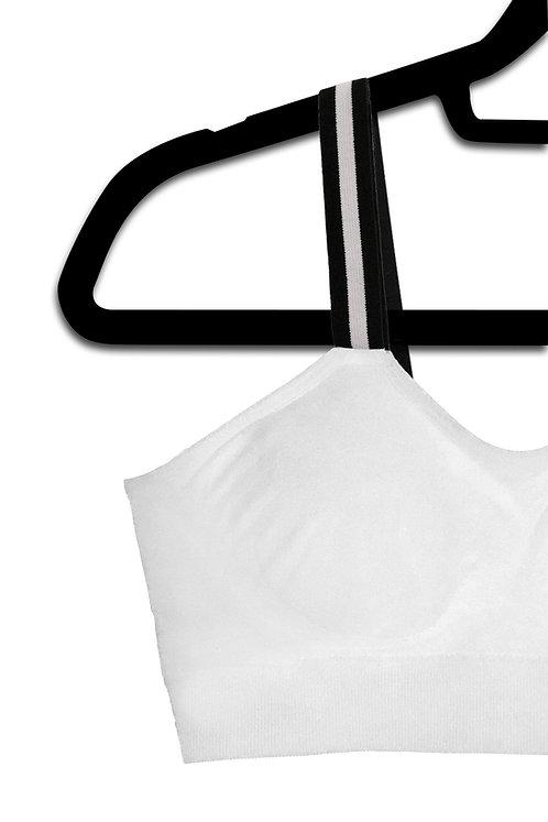Tuxedo Stripe (attached to our white bra)