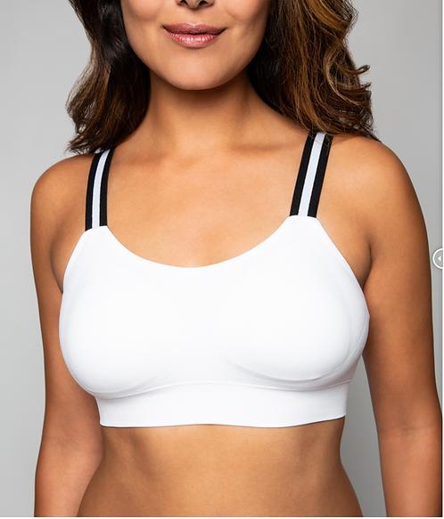 WHITE BRA/TUXEDO STRIPE (attached to our white bra)