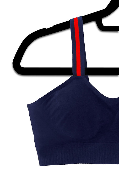 Navy G Stripe (attached to our navy bra)