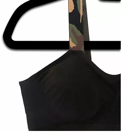Camo (attached to our plus size black bra)