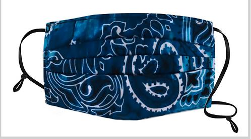 Ocean Blue Tie-Dye Bandana