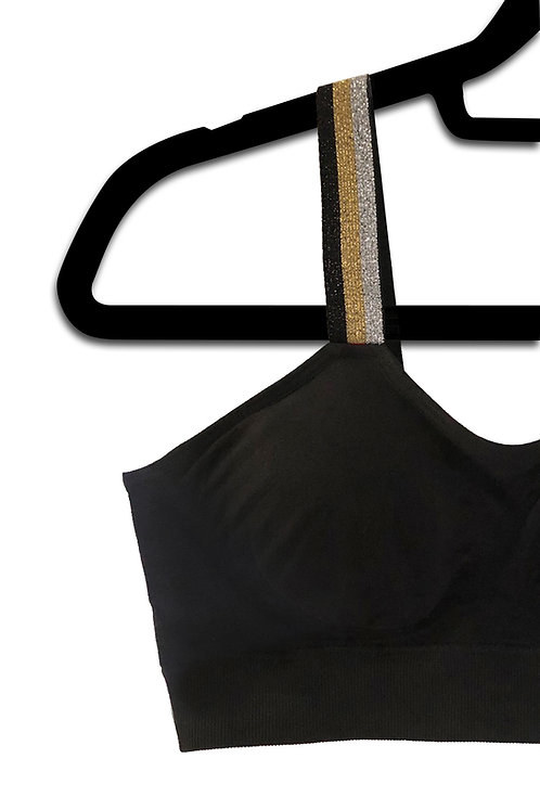 METALLIC TRICOLOR (attached to our plus size black bra)