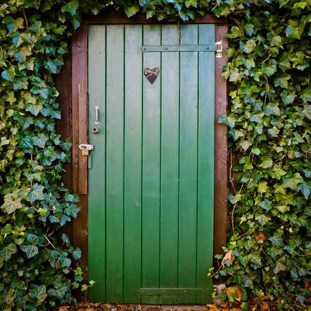 As portas fechadas para o jardim