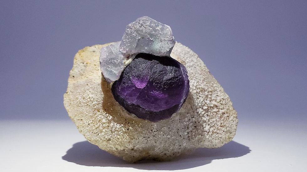 Fluorite on Matrix from Yiwu Co., China