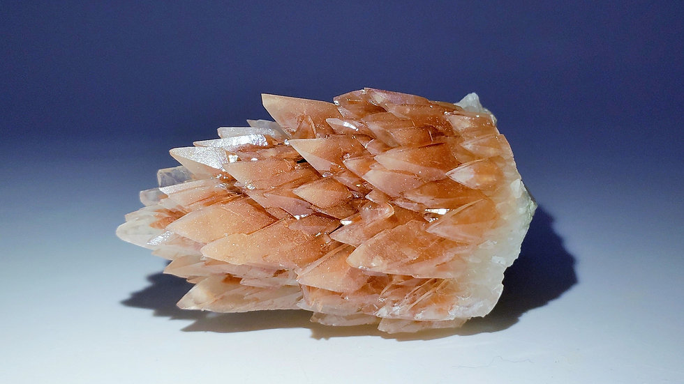 Collector's Piece: Dogtooth Calcite (Fluorescent) from Daye Copper Mine