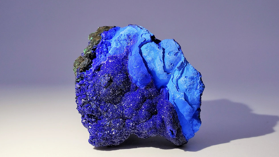 Azurite with Chrysocolla and Malachite from Liufengshan Mine, Anhui, China