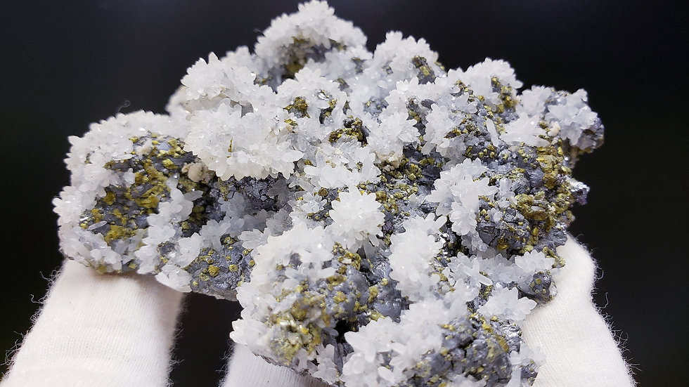 Quartz, Pyrite and Sphalerite Specimen from Dongxiang Co.