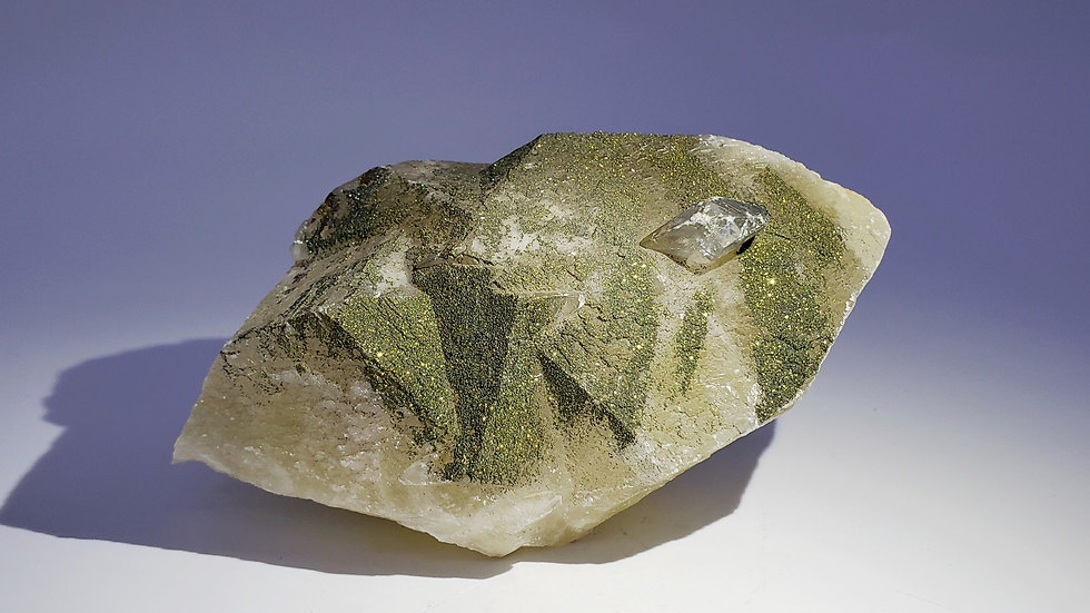 Collector's Piece: Calcite on Calcite with Chalcopyrite from Daye Copper Mine