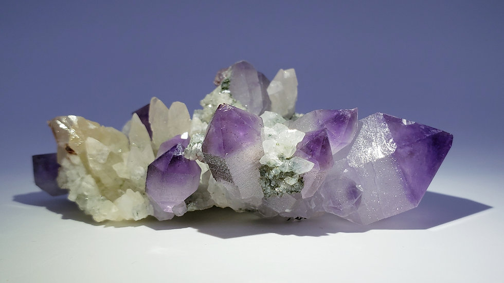 Collector's Piece: Amethyst and Calcite from Fengjianshan Mine, Daye Co., China