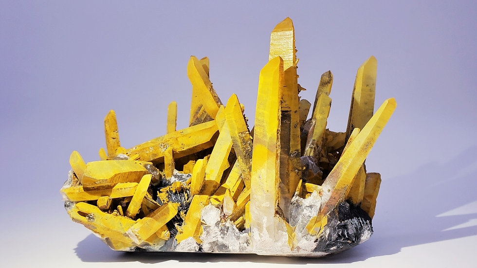 Collector's Piece: Quartz with Hematite var. Specularite from Jinlong Hill