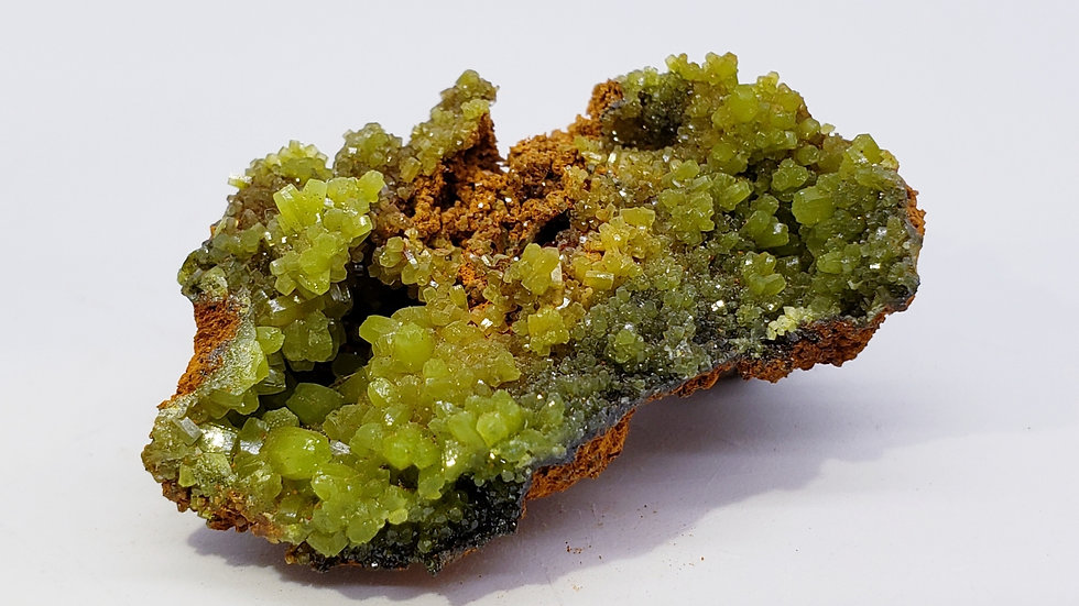 Pyromorphite on Limonite from Daoping Mine, China