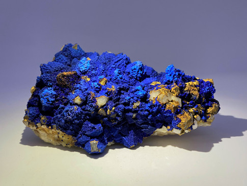 Azurite, Malachite and Goethite Pseudomorph After Quartz Mineral Specimens