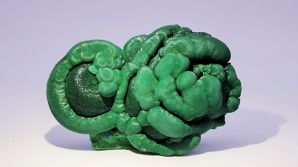 Cat's Eye Malachite from Shilu Mine, China