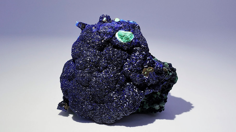 Azurite with Chrysocolla pseudomorph after Malachite from Liufengshan Mine