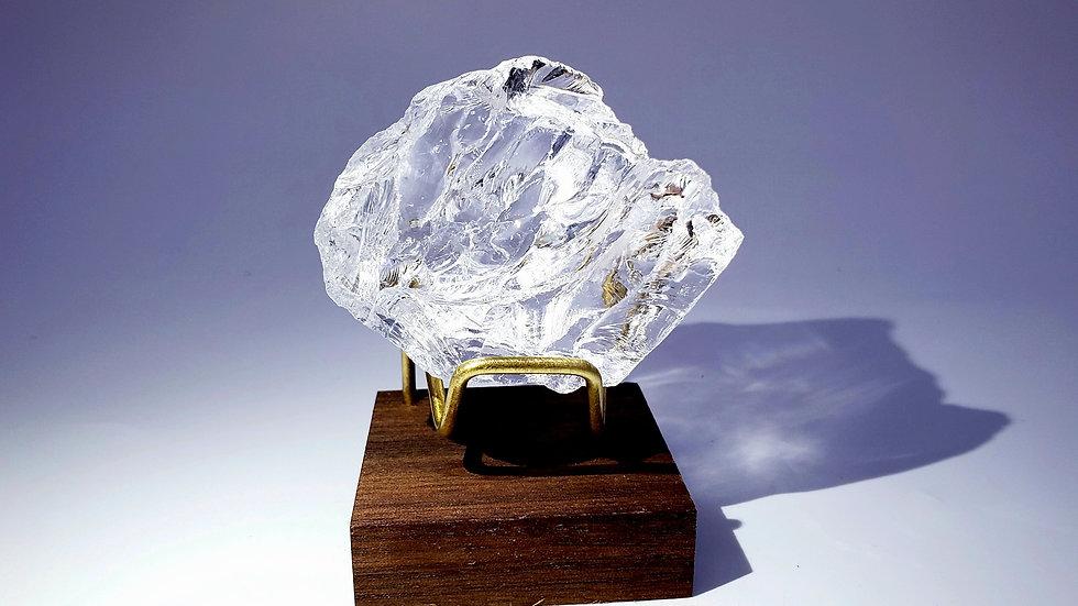Satyaloka Azeztulite Quartz Crystal from South India