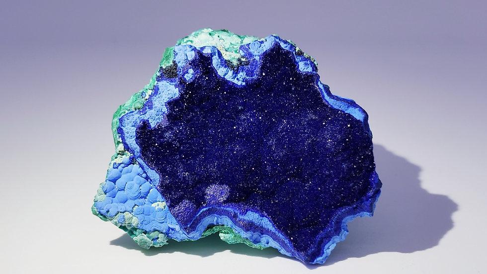 Azurite with Chrysocolla and Malachite from Liufengshan Mine, Anhu, China