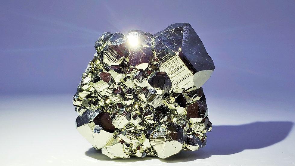 Collector's Piece: Pyrite with Hübnerite from Huanzala Mine, Áncash, Peru