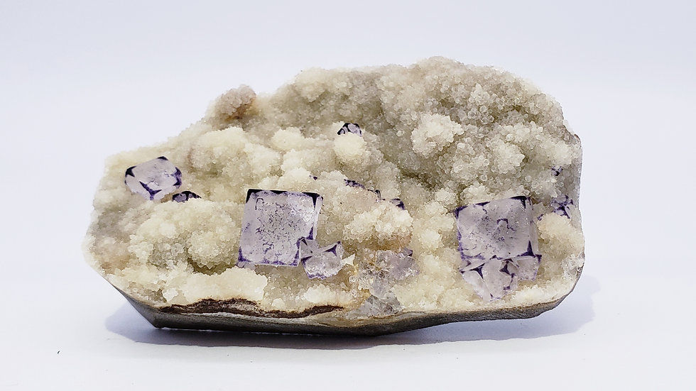 Rare Phantom Fluorite with Purple Edges from Qinglong Mine, China