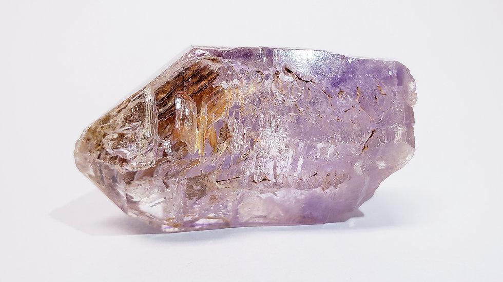 Enhydro Brandberg Amethyst Var. Fenster Quartz Scepter from Namibia