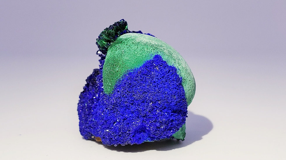 Azurite on Malachite Stalactite from Liufengshan Mine