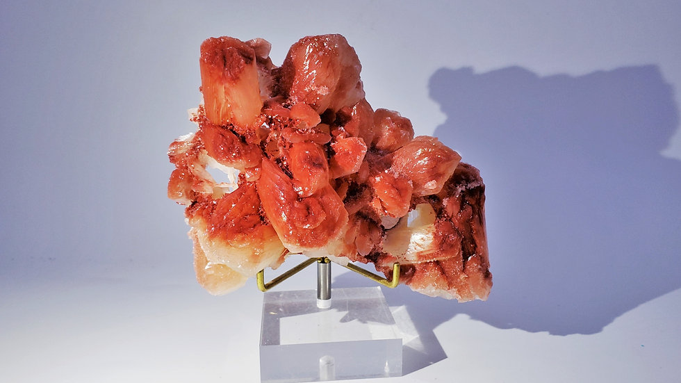 Red Stilbite Mineral Specimen from Savada, Maharashtra, India