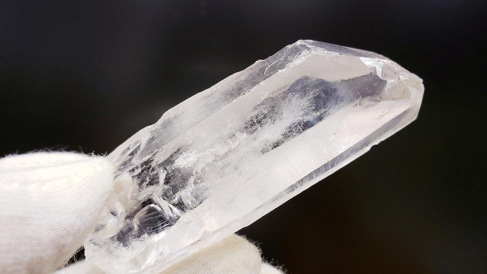 White Angel Feathers Quartz Crystal Lazer Wand