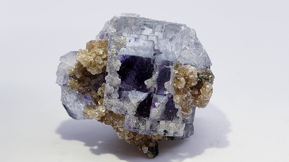 Fluorite with Mica, Dolomite and Epidote from Yaogangxian Mine